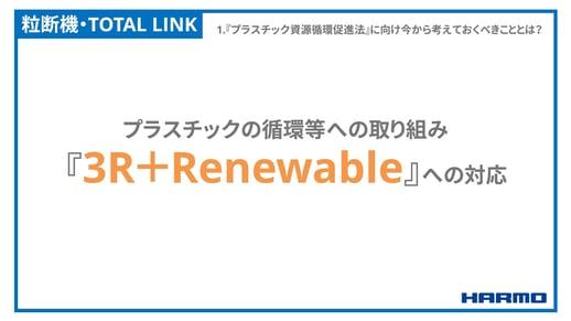プラスチック資源循環促進法と「3R+Renewable」について