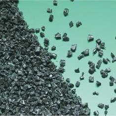 硬質材|ABSアクリロニトリルブタジエンスチレンの再生材粒断例の写真