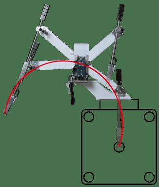 小型の成形機用ランナ取出ロボット