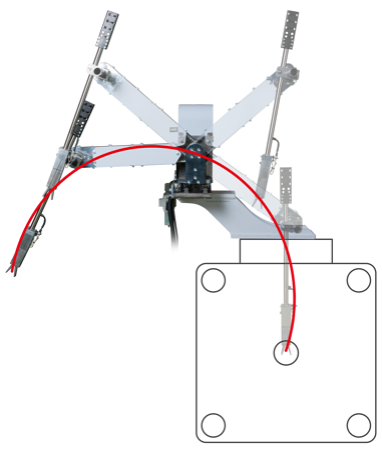 射出成形品の取り出しロボットのスペースに困ったら活躍する『LX-15_Swing』