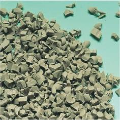 軟質材|TPEエラストマーの再生材粒断例の写真