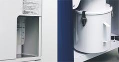 射出成形品の除湿乾燥ユニットのツインサイクロン