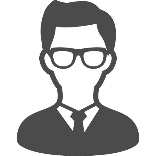 メガネをかけた男性のアイコン素材