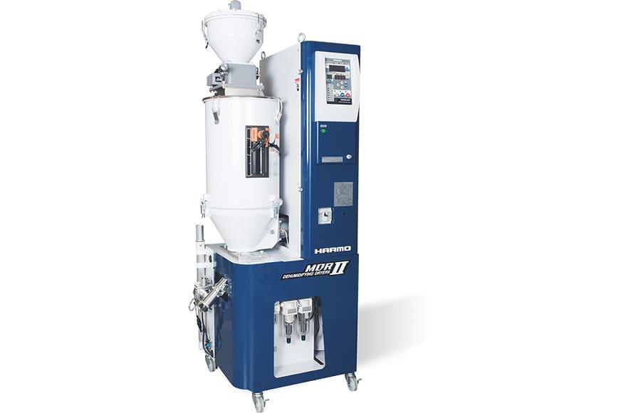 メンテナンスが簡単な射出成形品の除湿乾燥ユニット