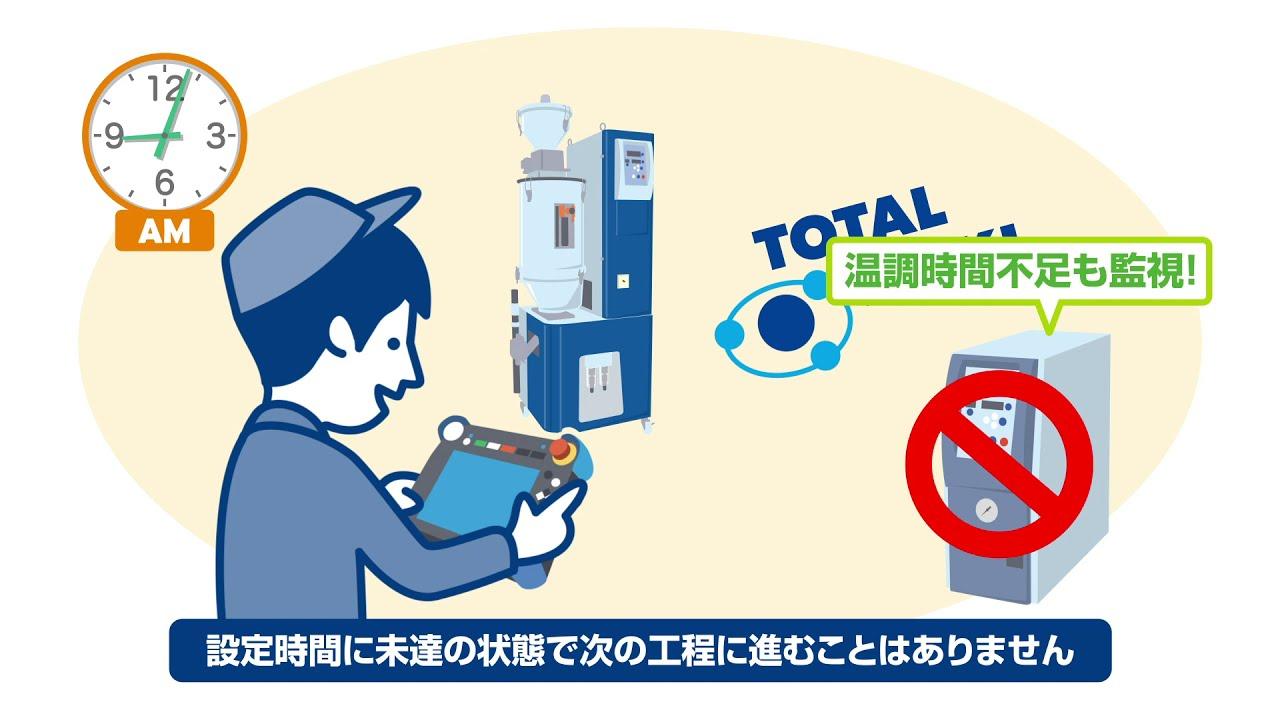 動画で解説03|ロボットが樹脂材の乾燥時間未達を自動検知&ストップで不良率を削減